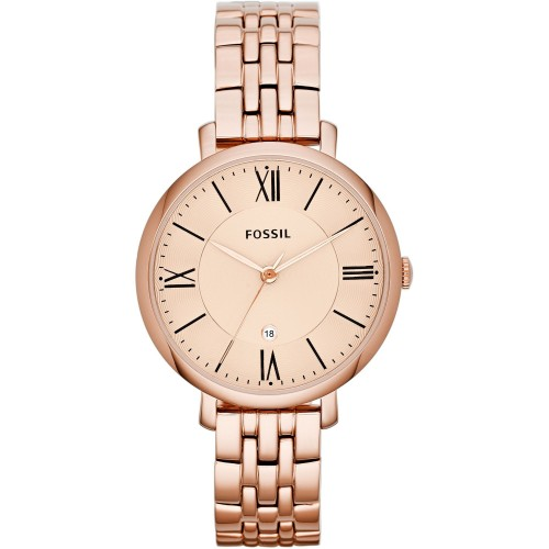 Fossil Ladies Rose Gold Jacqueline Watch ES3435