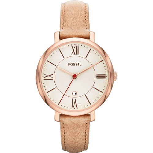 Fossil Ladies Light Brown Leather Jacqueline Watch ES3487