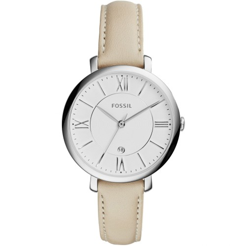 Fossil Ladies Cream Leather Jacqueline Watch ES3793