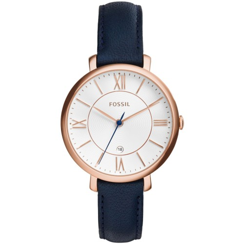 Fossil Ladies Blue Leather Jacqueline Watch ES3843