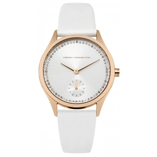 French Connection Louisa Ladies White Leather Watch FC1272WRG
