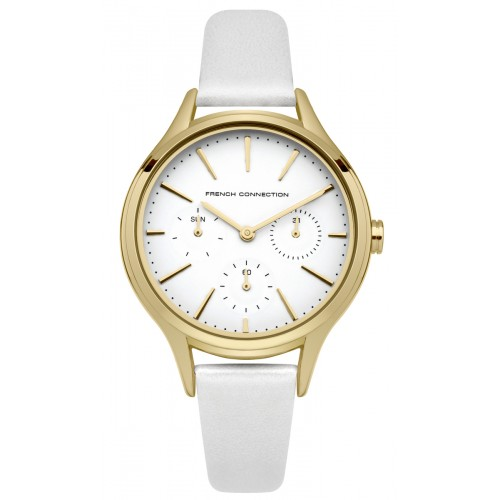 French Connection Daisy Grand Ladies White Leather Watch FC1273WG