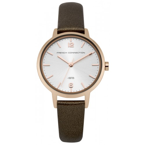 French Connection Newgate Ladies Brown Leather Watch FC1280TRG