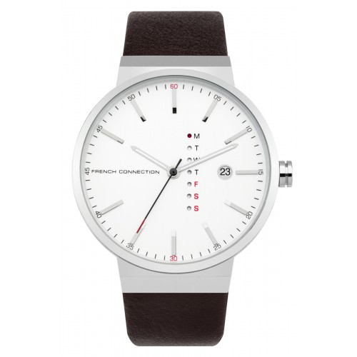 French Connection Mens Brown Leather Watch FC1283T