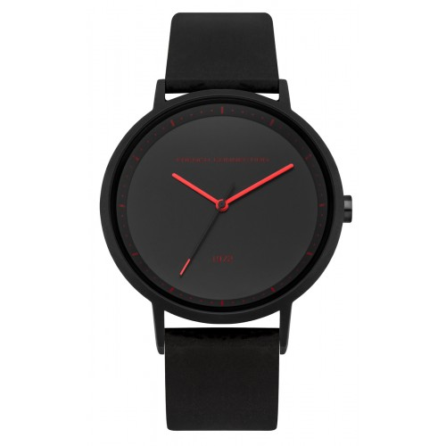 French Connection Mens Black Silicone Watch FC1288BBR