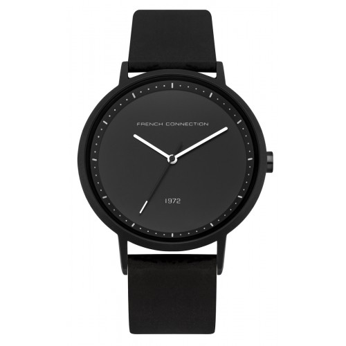 French Connection Mens Black Silicone Watch FC1288BBW