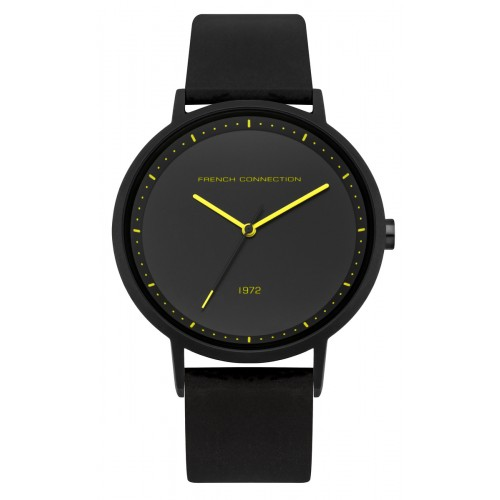 French Connection Mens Black Silicone Watch FC1288BBY