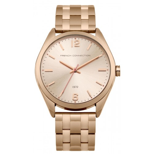 French Connection Ladies Rose Gold Watch FC1293RGM