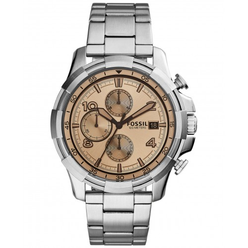 Fossil Mens Silver Dean Watch FS5163