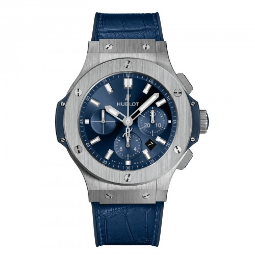 Hublot Big Bang Steel Mens Blue Leather Watch 301.SX.7170.LR