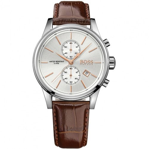 Hugo Boss Men's Jet Chronograph Leather Watch 1513280