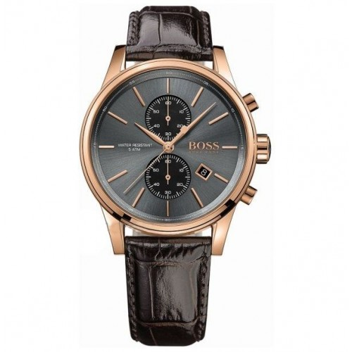 Hugo Boss Men's Jet Chronograph Leather Watch 1513281