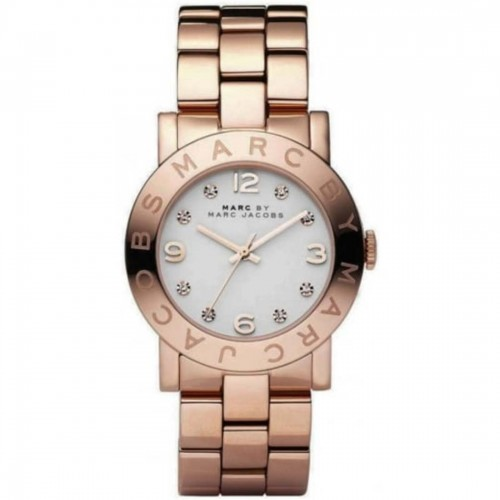 Marc Jacobs Ladies Rose Gold Amy Watch MBM3077