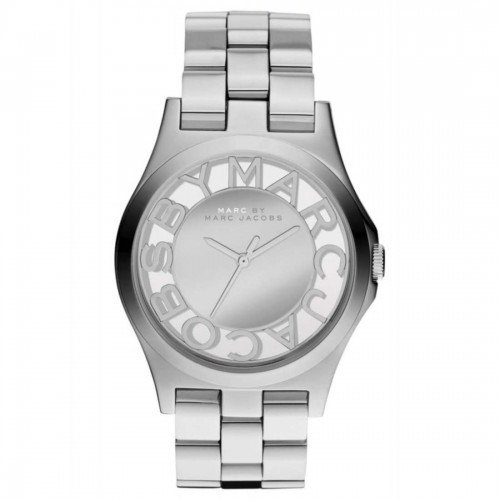 Marc Jacobd Ladies Silver Skeleton Watch MBM3205