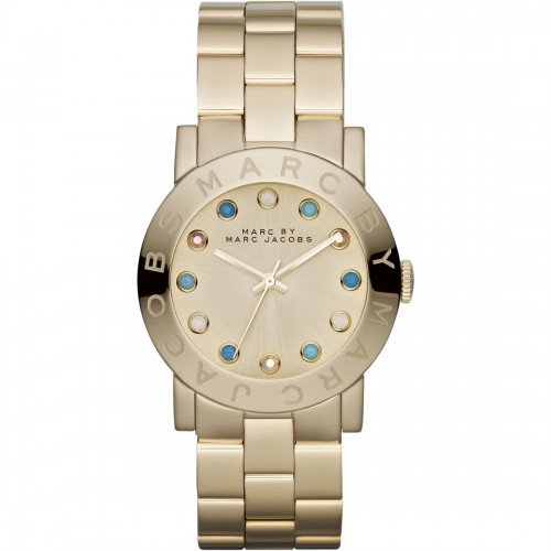 Marc Jacobs Ladies Amy Gold Watch MBM3215