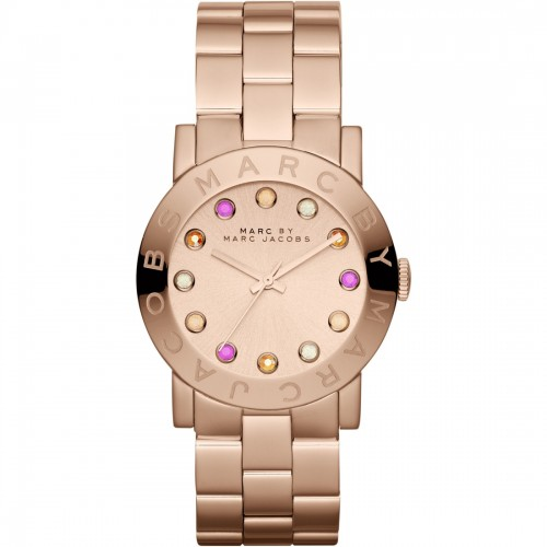 Marc Jacobs Ladies Amy Rose Gold Watch MBM3216