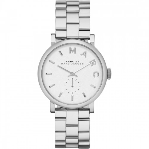 Marc Jacobs Ladies Silver Baker Watch MBM3242