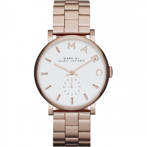Marc Jacobs Ladies Rose Gold Baker Watch MBM3244