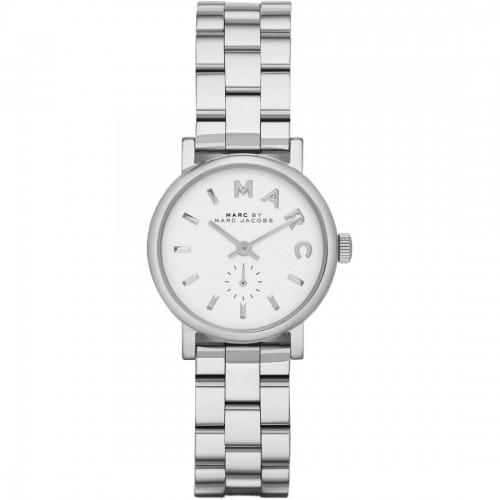 Marc Jacobs Ladies Silver Mini Baker Watch MBM3246