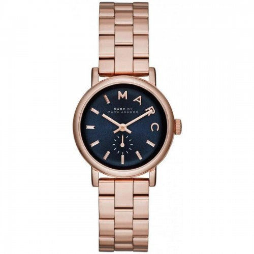 Marc Jacobs Ladies Rose Gold Mini Baker Watch MBM3332