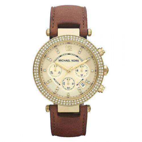 Michael Kors Ladies Gold & Brown Parker Watch MK2249