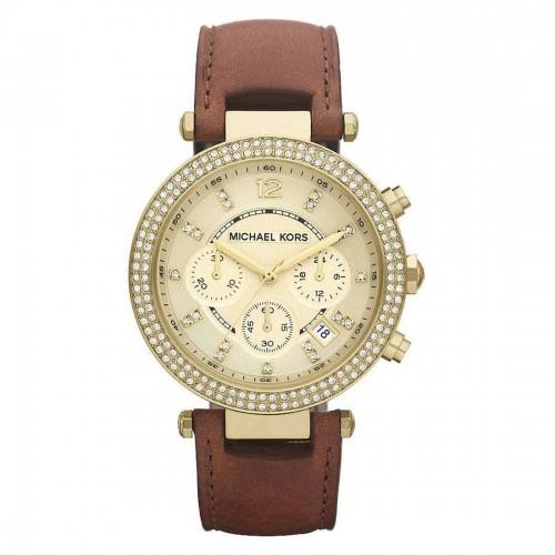Michael Kors Ladies Gold & Brown Parker Watch MK2249
