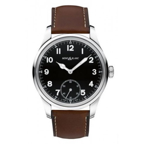 Montblanc Montblanc Timewalker Black Dial Brown Leather Men's Watch 112638