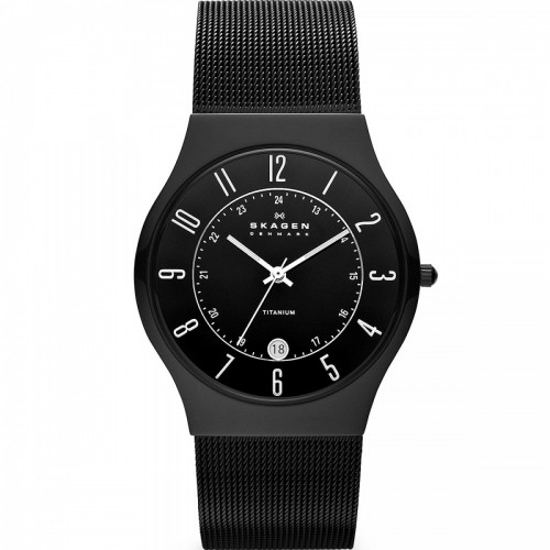 Skagen Mens Black Mesh Titanium Watch 233XLLTMB