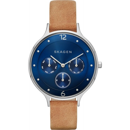 Skagen Ladies Anita Brown Leather Watch SKW2310