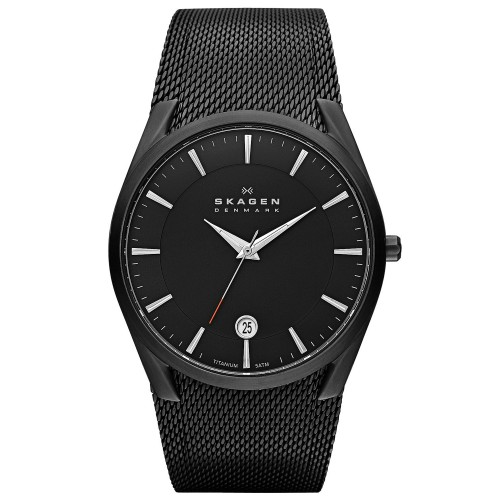 Skagen Mens Aktiv Black Titanium Watch SKW6009