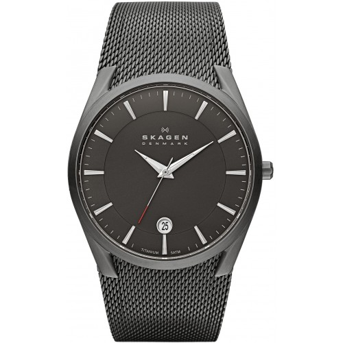 Skagen Mens Aktiv Grey Titanium Watch SKW6010