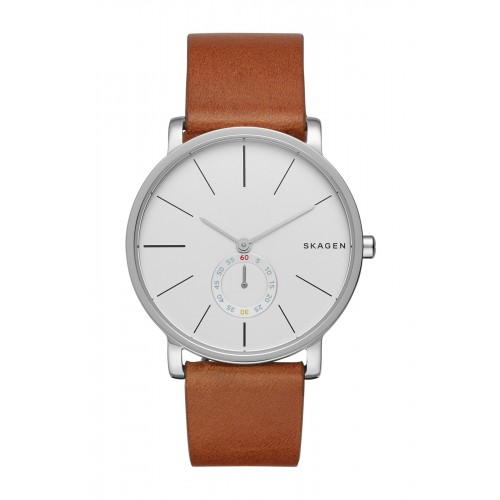 Skagen Mens Hagen Brown Leather Watch SKW6273