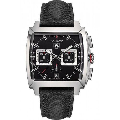 Tag Heuer Monaco Black Men's Chronograph Watch CAL2113.FC6536