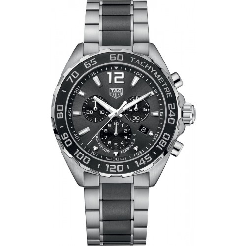 Tag Heuer Formula 1 Chonograph Grey Dial Men's Watch CAZ1011.BA0843
