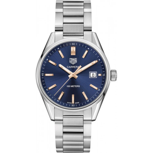 TAG HEUER CARRERA Mens Silver Blue Dial Watch WAR1112.BA0601