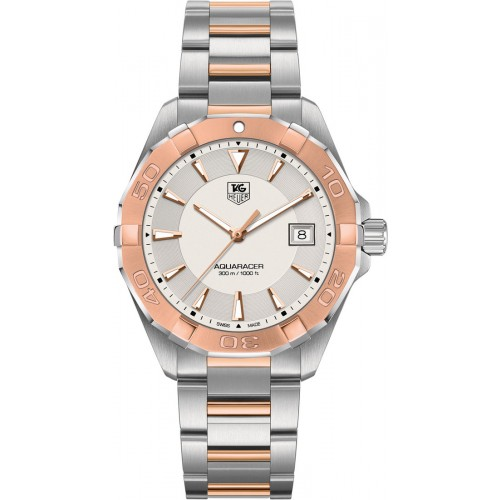 Tag Heuer Aquaracer Mens Rose Gold Watch WAY1150.BD0911