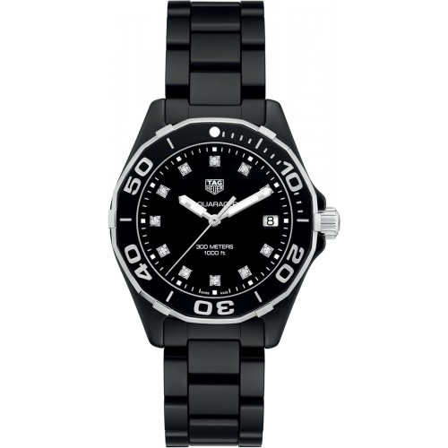 TAG Heuer Aquaracer Ladies Black Ceramic Watch WAY1397.BH0743