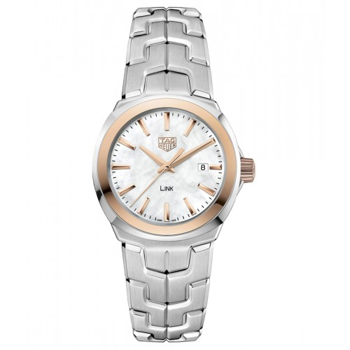 TAG HEUER LINK Ladies Rose & Silver Watch WBC1350.BA0600