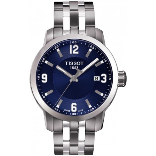 Tissot PRC 200 Quartz Blue Dial Stainless Steel Sport Men's Watch T055.410.11.047.00