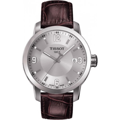 Tissot Mens PRC200 Brown Leather Watch T055.410.16.037.00