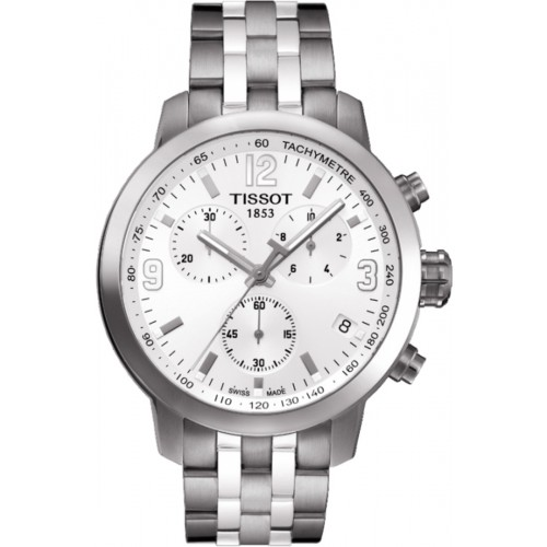 Tissot PRC200 Chronograph White Dial Stainless Steel Men's Watch T055.417.11.017.00