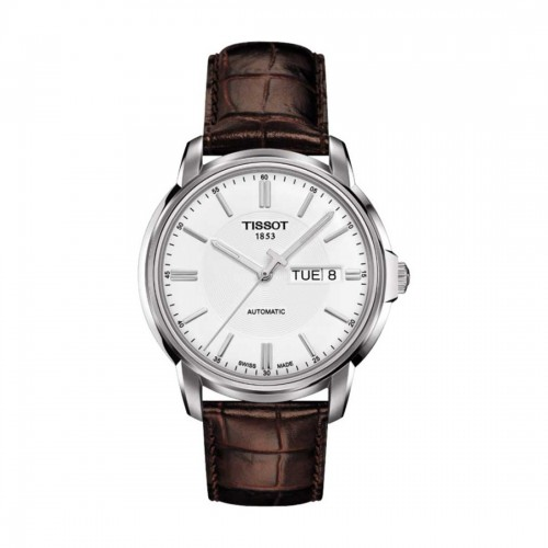 Tissot Automatic III White Dial Men's  Leather Watch T065.430.16.031.00