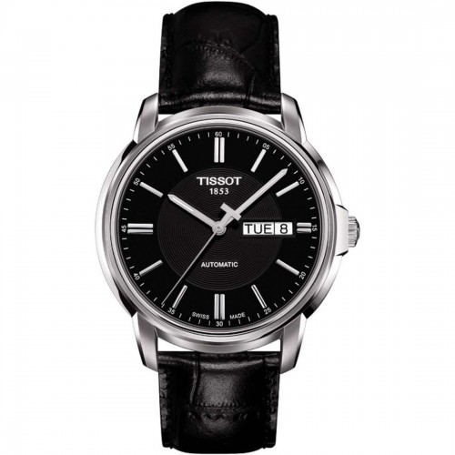 Tissot Automatic III Black Dial Men's  Leather Watch T065.430.16.051.00