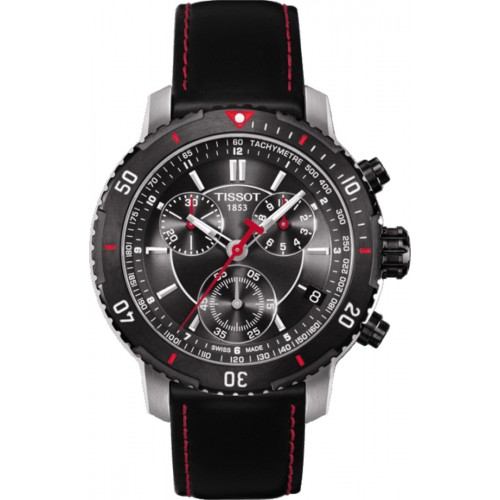 Tissot PRS 200 Chronograph Black Dial Men's Watch T067.417.26.051.00