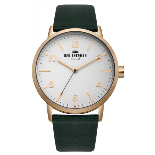 BEN SHERMAN BIG PORTOBELLO HERRINGBONE WATCH WB070NBR