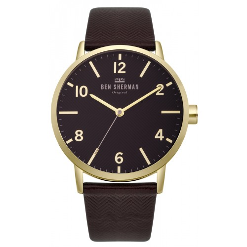 BEN SHERMAN BIG PORTOBELLO HERRINGBONE WATCH WB070RB