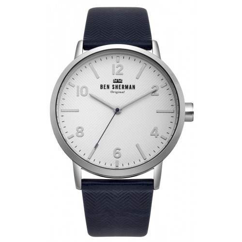 BEN SHERMAN BIG PORTOBELLO HERRINGBONE WATCH WB070UB