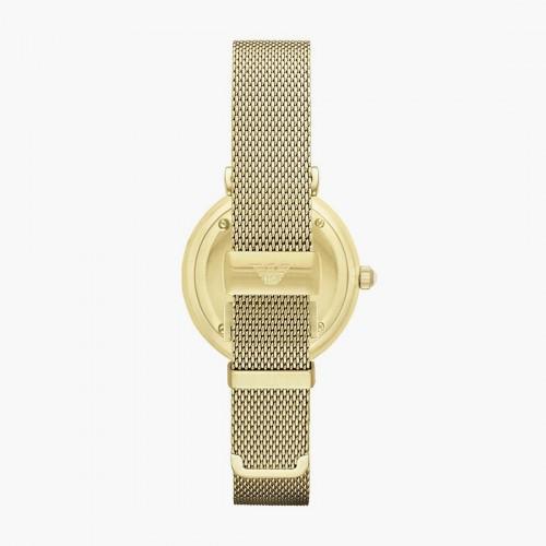 Emporio Armani Ladies Gold Mesh Strap AR1957