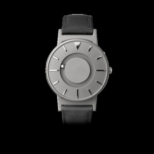 """Unisex Eone The Bradley Canvas Black Strap Titanium Watch BR-C-BLACK """