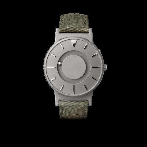 """Unisex Eone The Bradley Canvas Olive Green Strap Titanium Watch BR-C-GREEN """